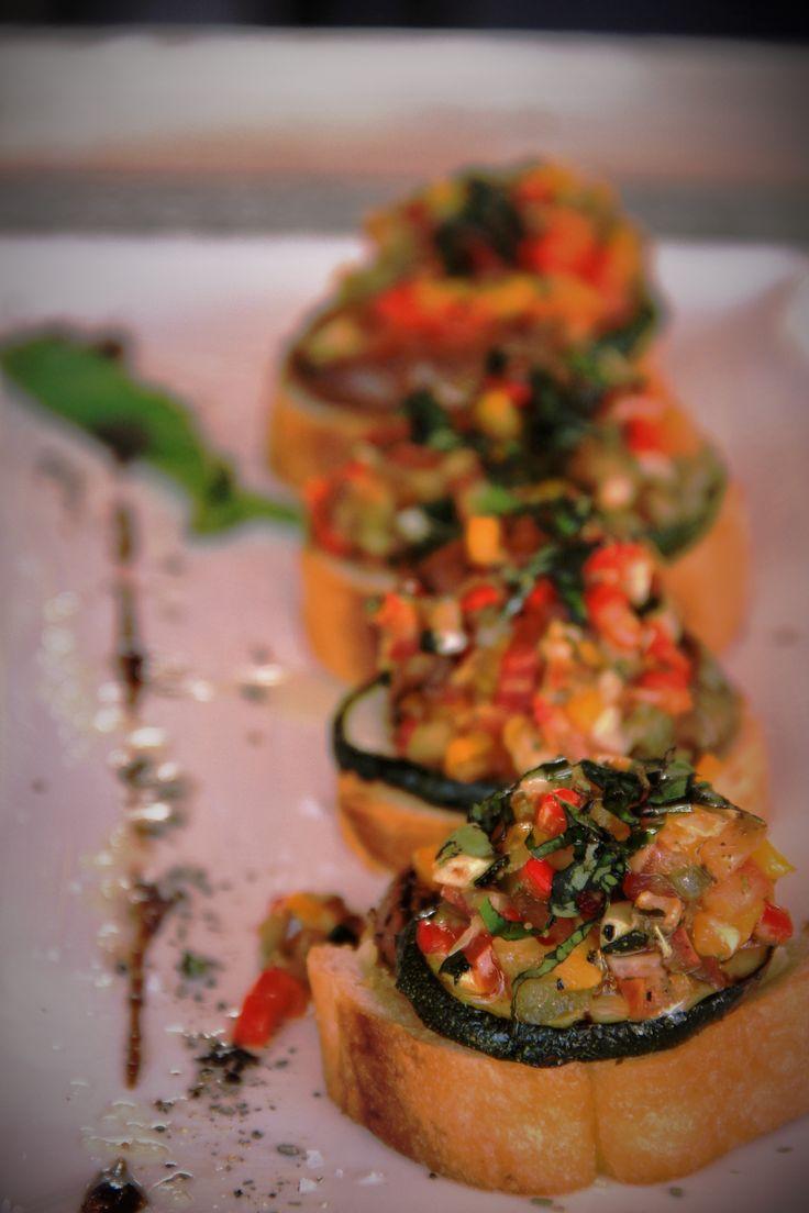 Roasted Vegetable bruschetta