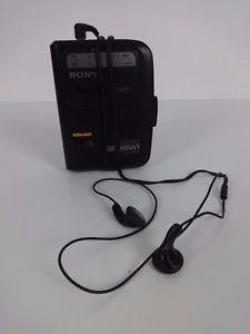 a walkman sony wm fx103 radio reproductor de cassette fm sintonizador am mega bass negro avls
