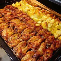 Firinda soslu tavuk ve patates