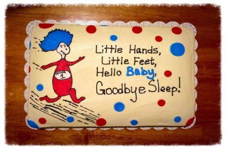 Trendy baby shower cake ideas for twins dr. seuss Ideas