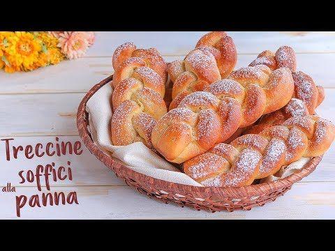 TRECCINE SOFFICI ALLA PANNA Ricetta Facile - Fatto in casa da Benedetta - YouTube