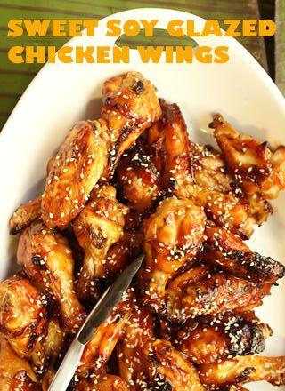 Sweet Soy Glazed Chicken Wings | nom nom nom | Pinterest