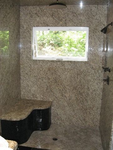 Giallo Ornamental Granite Shower Enclosures