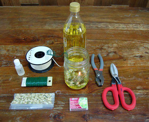 How to Make a Mason Jar Oil Lamp, see more at http://diyready.com/mason-jar-olive-oil-lamp