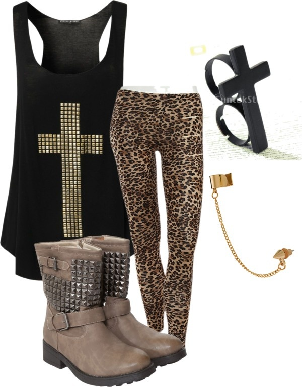 """""""Untitled #218"""" by fashion-crazz on Polyvore. Maybe just a plain black tank but super cute"""