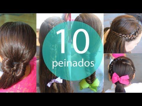 10 Peinados faciles y rapidos para niñas! - YouTube