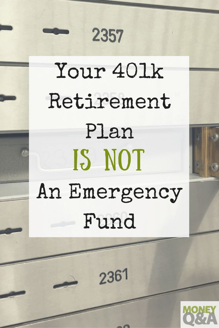 A 401k retirement plan loan should be used as a last resort if you absolutely have no emergency fund. Here's why your 401k isn't an emergency fund.