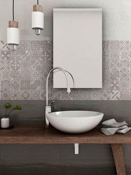 Azulejos grises para el baño