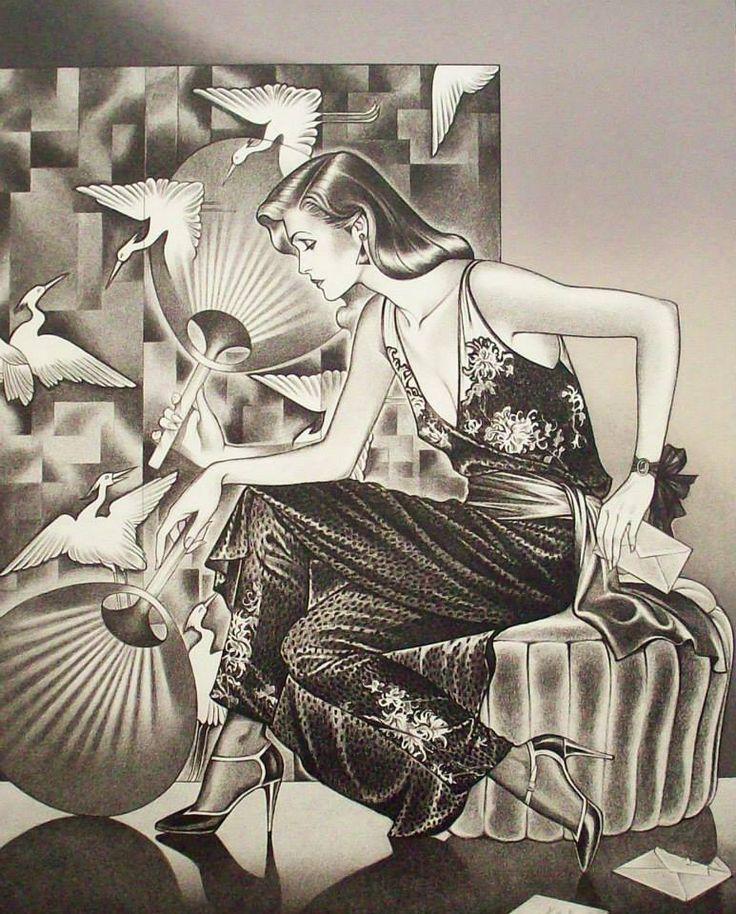 """Future Deco – Die Modeillustrationen von George Stavrinos (1948–1990) """"Georg …"""