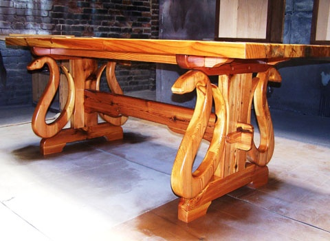 Serpentine Table By Thomas A. Johnson Of Thomas A. Johnson Furniture Company   Visit