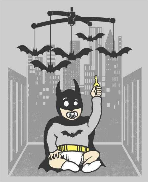 baby batman & the bat-mobile --> future nursery decoration