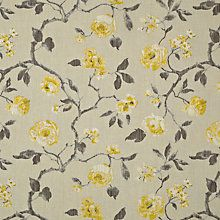 Buy John Lewis Linen Rose Curtain, Yellow Online at johnlewis.com