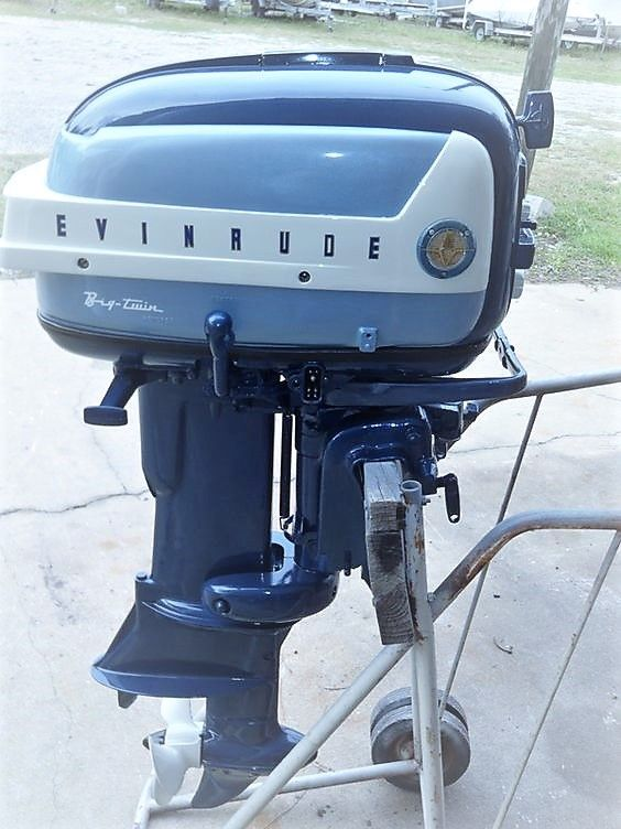 1958 35hp Evinrude Outboard Boat Motor.
