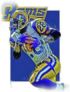 Joe Hamilton - MARSHALL FAULK LOS ANGELES RAMS OIL ART