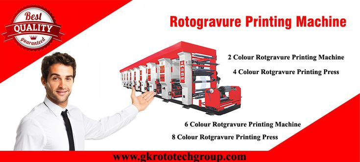 Manufacturer, Exporter and Supplier of Rotogravure Printing Machine and Grovure Printing Machine offered by GK Rototech, Ahmedabad, India.