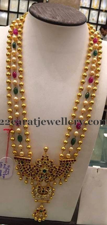 Jewellery Designs: Beads and Pearls Haram 120gms