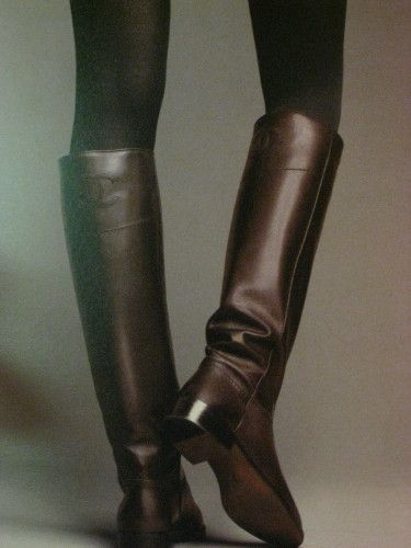 Amazing Chanel brown boots; Have to get me a pair of rider boots this fall.