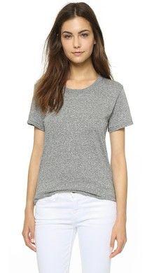 Madewell Хлопковая футболка с округлым вырезом Whisper   SHOPBOP