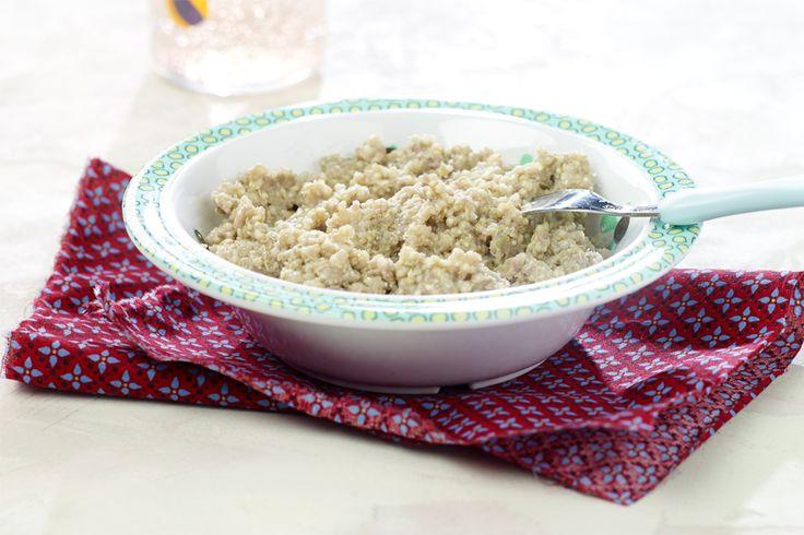 Leer je kleintje van kleins af aan hoe lekker de intense smaken van de Mmmarokkaanse keuken zijn. Van dit gezonde recept voor aubergine gevuld met kikkererwten en courgette kunnen jullie allemaal smullen.