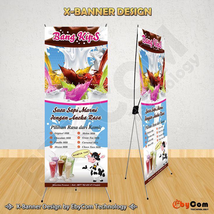 "Desain X-Banner ""Bang Kips"" by EbyCom Technology"