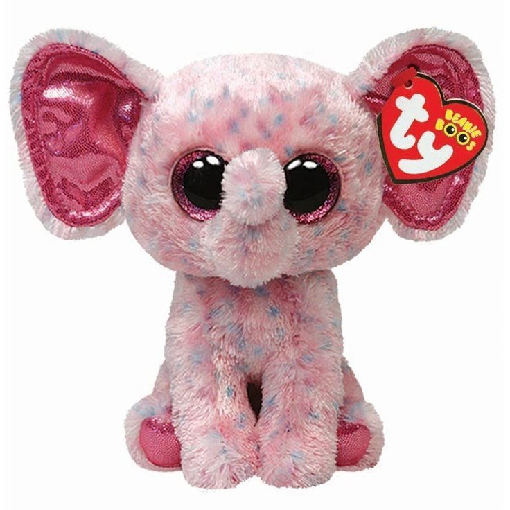 Ty Ellie the Pink Elephant Beanie Boos Stuffed Plush Toy