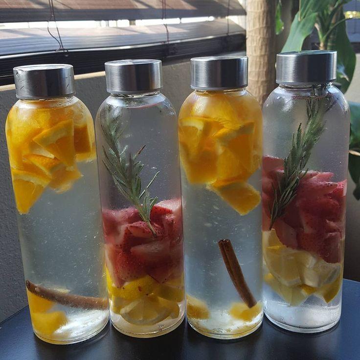 #detoxwater  Strawberries+Lemons+Rosemary Oranges+Cinnamon  #fruit #clean #delish #fruitwater #infusedwater #detox #healthy #healthylifestyle #fresh #cleanse #water #yum #antioxidants #stayhealthy #behealthy #drinkwater #refreshing #healthychoices #healthylifestyle #strawberries #lemons #mint #oranges #colorful #stayhydrated