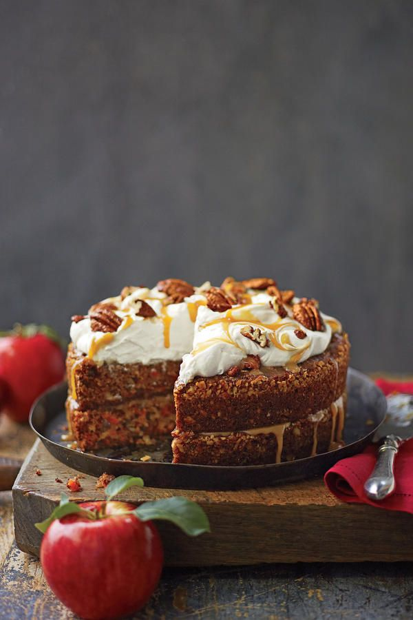 Fall Cake Recipes: Apple-Pecan Carrot Cake