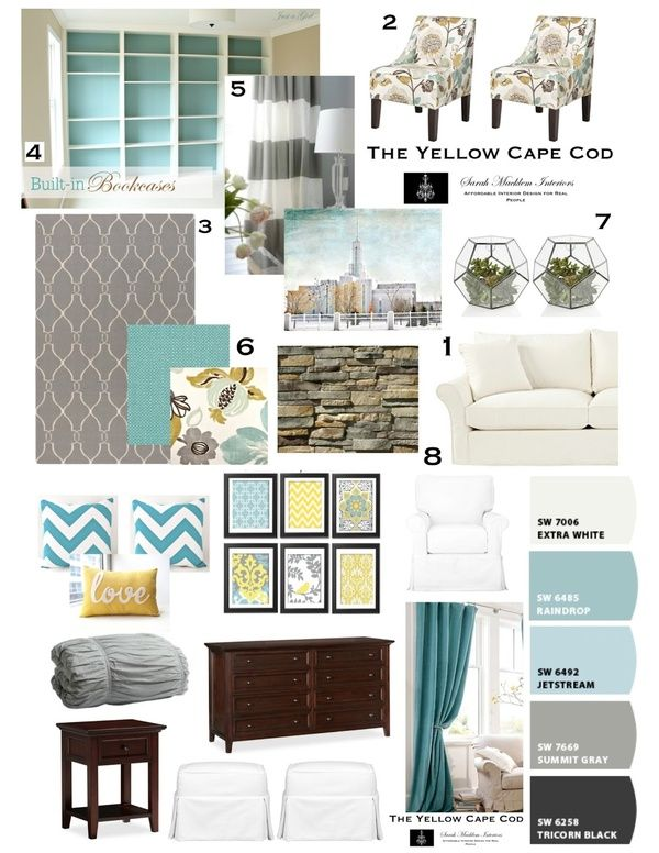 Teal, Gray Yellow. Since my room is alreadt gray and I have been searching for…