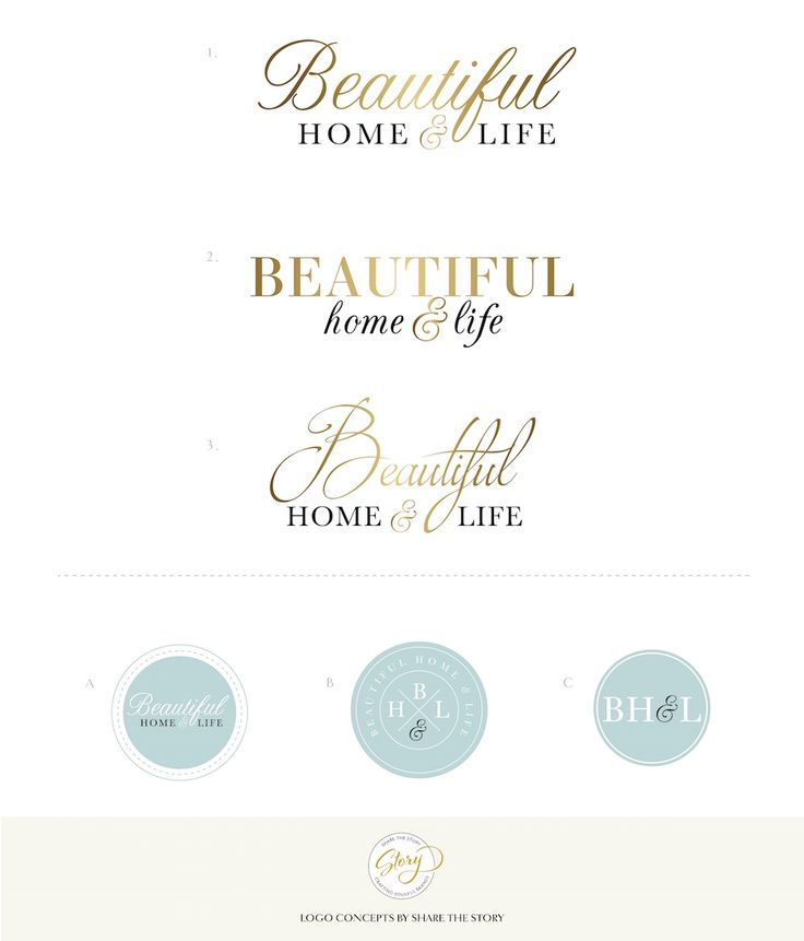 BEAUTIFUL HOME AND LIFE / logo concept / brand design – Share the Story