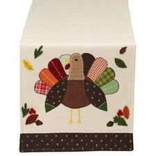 Thanksgiving Turkey Embellished Table Runner