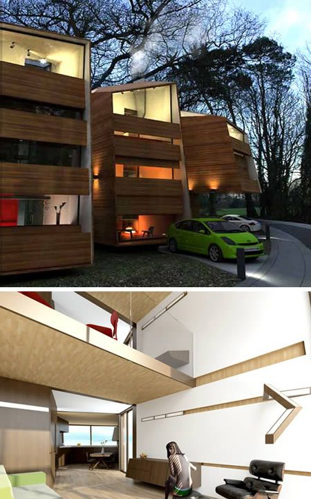 """Prefab houses that live light on the earth and satisfy the """"peak oil"""" activist who demands an exemplary aesthetic."""