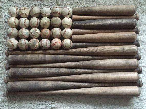 Large Baseball Bat Flag by BlakewoodBarn on Etsy