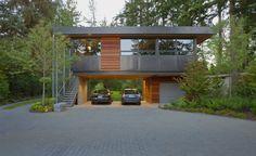 Архитектура в цветах: серый, светло-серый, темно-коричневый, коричневый, бежевый. Архитектура в стиле минимализм.