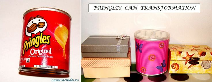 Don't throw away your Pringles can! Turn them into great desk organizers. #Pringles #organizer #can