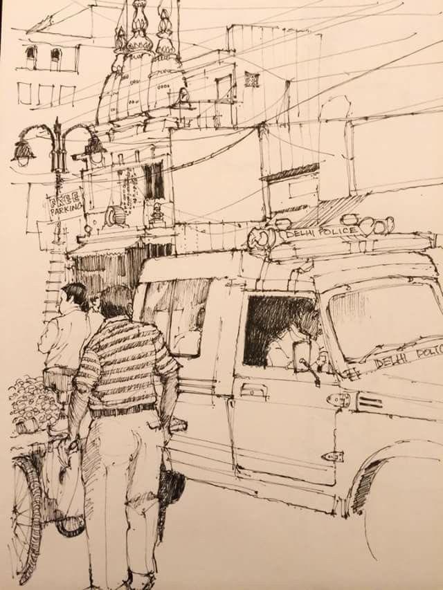 Ed Isaac Delhi Traffic