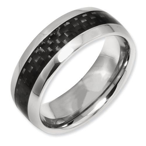 Anium Black Carbon Fiber 8mm Polished Band