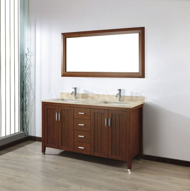 small sink vanity for small bathrooms%0A Art Bathe Jackie    Cherry Double Bathroom Vanities http   www listvanities