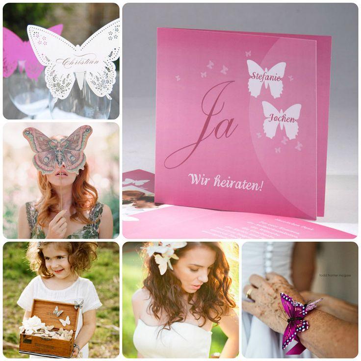Schmetterling Hochzeitseinladungen