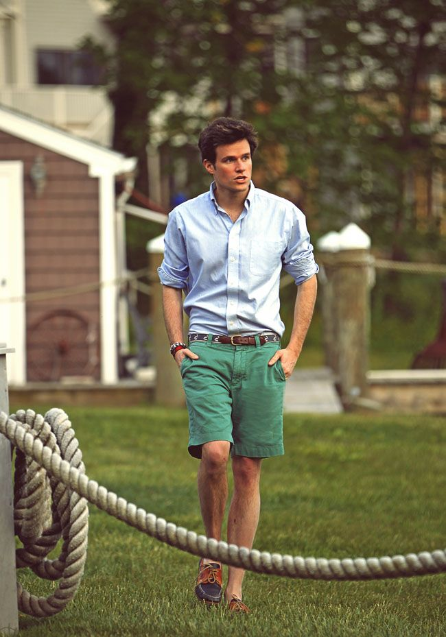 Dress classy, every girls wants one: Boats Shoes, Summer Style, Boys, Preppy, Dresses Shirts, Summer Outfits, Men Fashion, Green Shorts, Summer Clothing