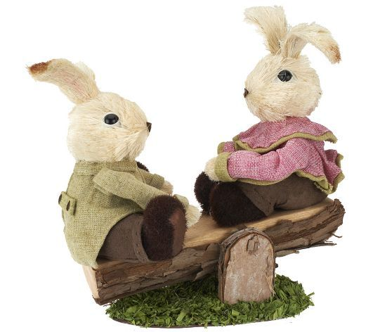 Bunny Children on See-Saw by Valerie Parr Hill.  Available on QVC's website.