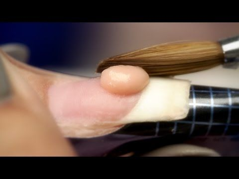 Beginners Acrylic Nails: Liquid To Powder Ratio - YouTube