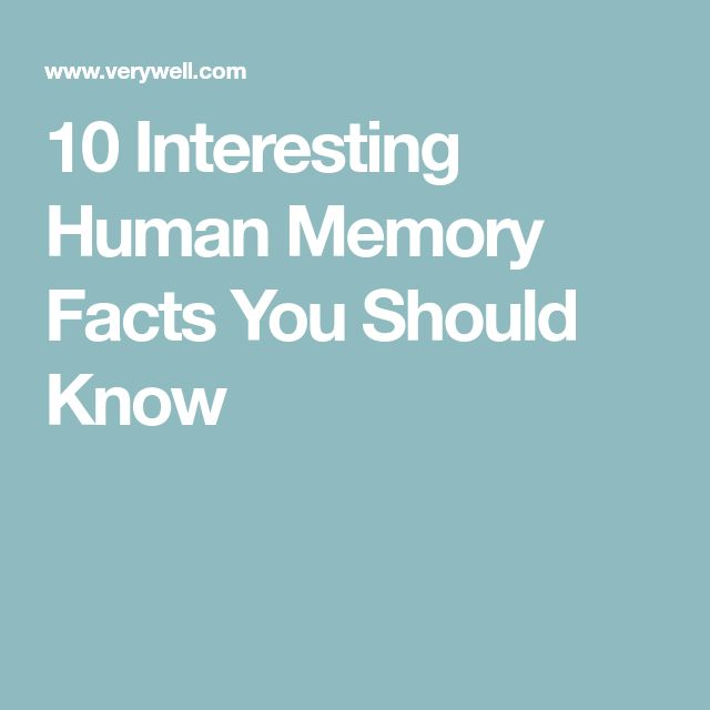 10 Interesting Human Memory Facts You Should Know