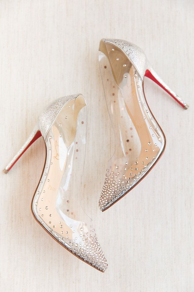 Crystal Clear Bridal Heels Christian Louboutain Dana Cubbage Weddings Charleston Sc Bridal Wedding Shoes Fashion Shoes Heels Wedding Shoes