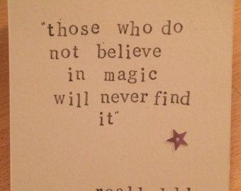 Roald Dahl Quote Girls Room Wall Art Baby Girl by violetandalfie