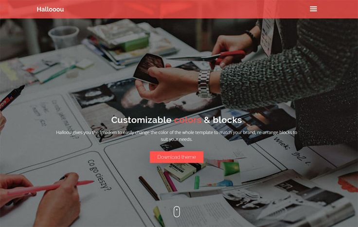 Hallooou Free One Page HTML5 Template