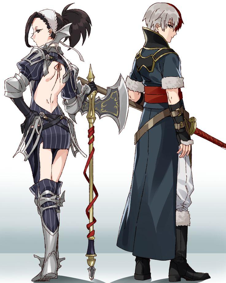 Boku no Hero Academia    Todoroki Shouto, Yaoyorozu Momo in Fire Emblem: Awakening clothing