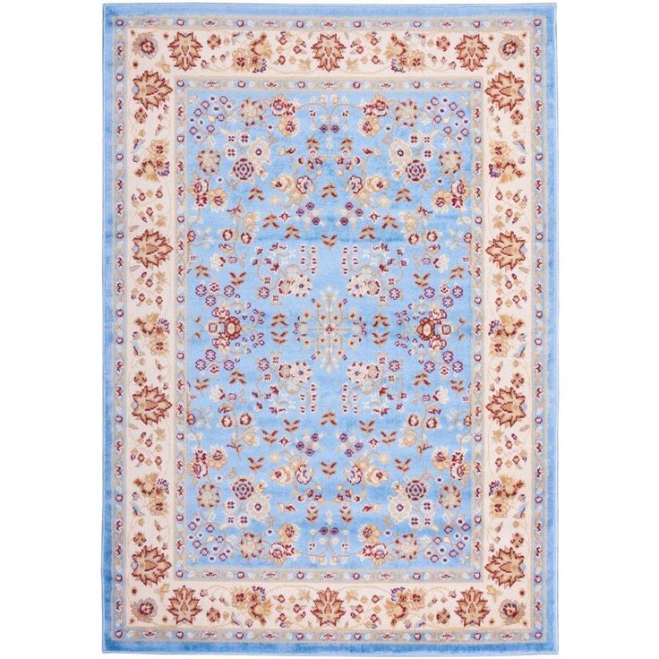 Miami Bijar Classic Blue 8 ft. 2 in. x 9 ft. 10 in. Traditional Area Rug