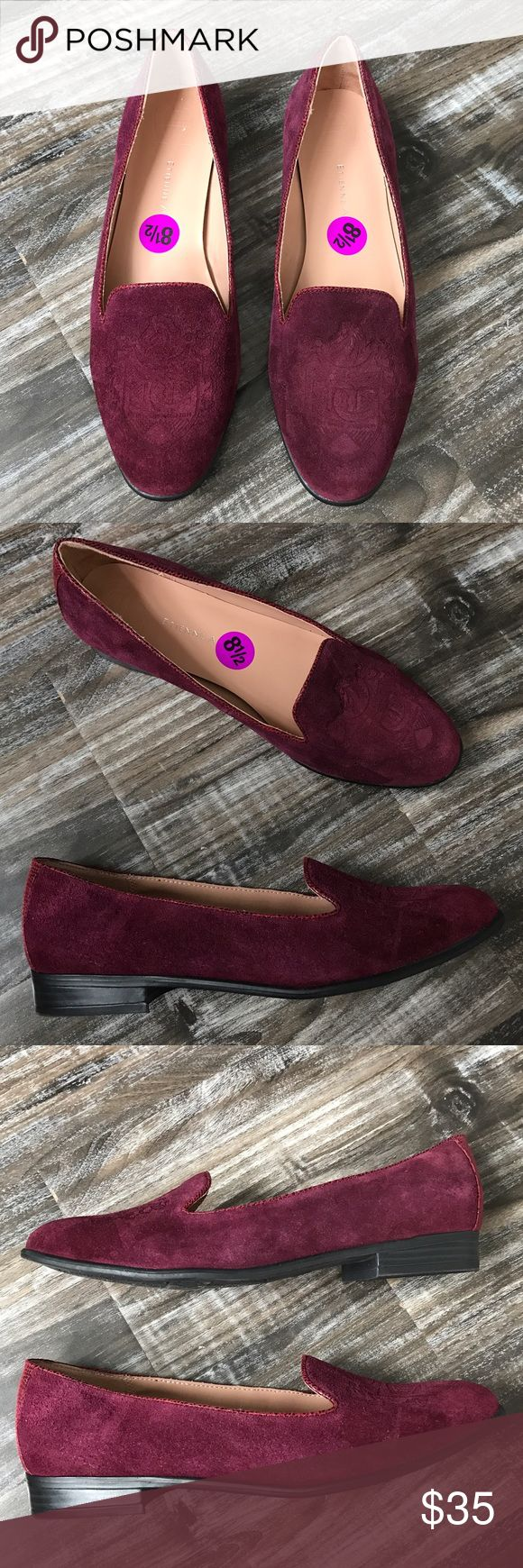 Etienne Aigner Kathy Purple Smoking Slippers Flats These woman's flats are brand new without the box. They're a size 8.5 and made of genuine Suede. They have great arch support and are very comfortable. Etienne Aigner Shoes Flats & Loafers