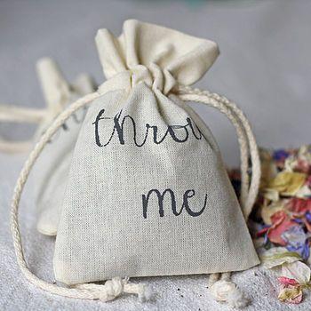 Cotton Bag For Wedding Petal Confetti