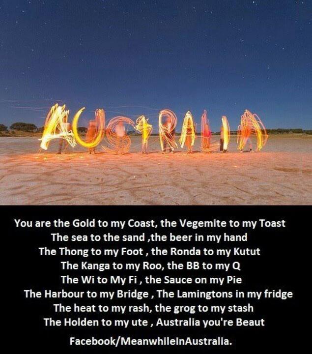 Proud to be an Australian!   :)